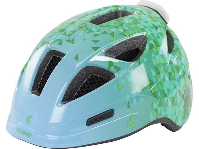 Cube Pro Casco Bambino, green triangle